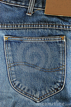 A blue jeans pocket