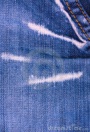 Blue jeans texture with stitch