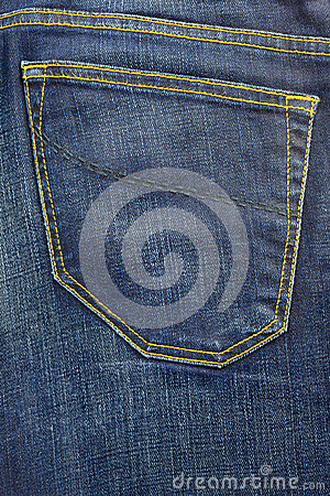 Blue jeans vintage pocket trousers background