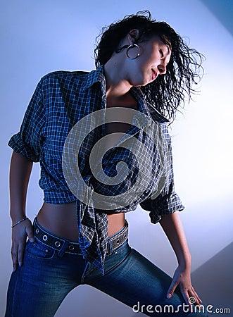 Blue jeans woman 1