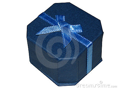 Blue jewellery gift box