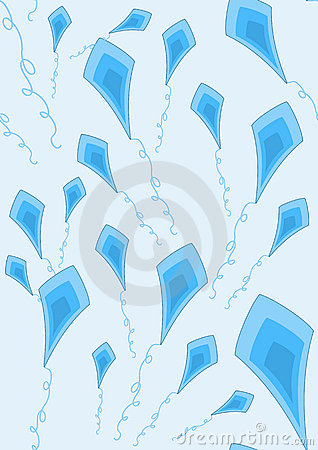 Blue kites wallpaper
