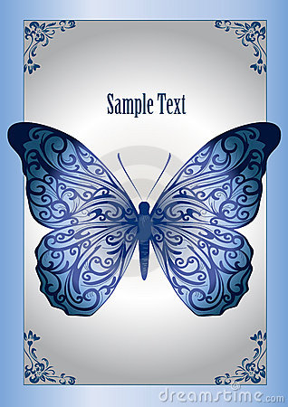 Free Blue Lace Butterfly Stock Photography - 21817412