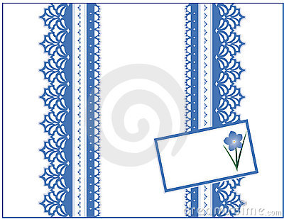 Blue Lace Gift Box, Forget Me Not Gift Card