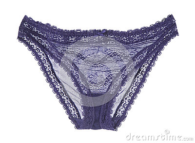 Blue lace panty with a bow