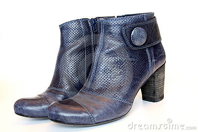Blue ladies boots