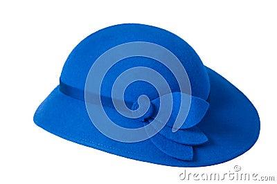 An blue ladies hat