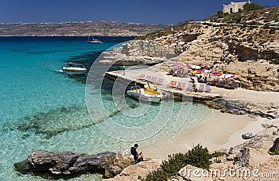 Blue Lagoon - Comino - Malta Editorial Photo