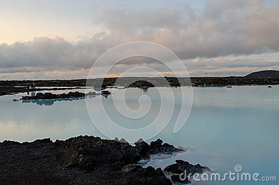 Blue Lagoon at dusk