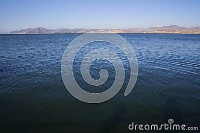 Blue lake waters