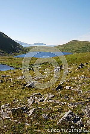 Blue lakes on the green hills of Soroya.