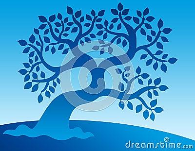 Blue leafy tree