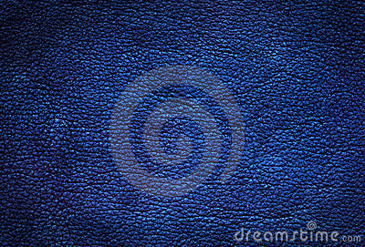 Blue leather background.