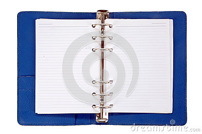 Blue leather notebook