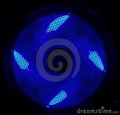 Blue led fan