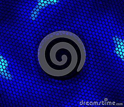 Blue led fan