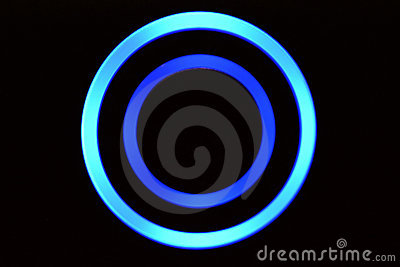 Blue LED Rings Royalty Free Stock Photo - Image: 13870555