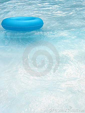 Blue lifebuoy in pool 2