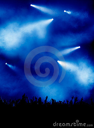 Free Blue Light At Concert Stock Images - 5739294