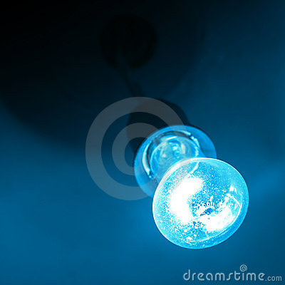 Blue light of bulb