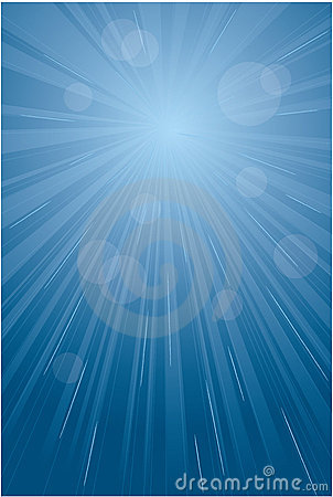 Blue light burst, abstract background