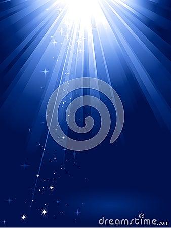 Free Blue Light Burst With Stars Stock Images - 11204524
