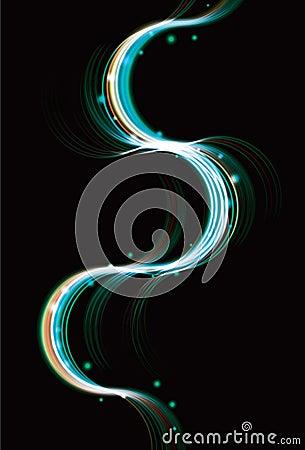 Blue light effect curve background