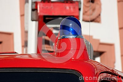 Blue light fire brigade car