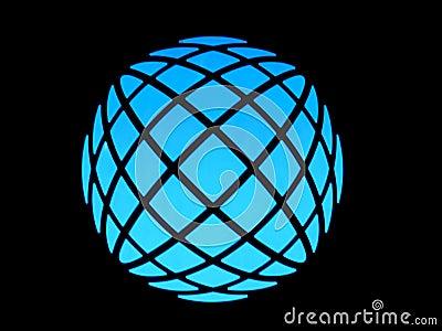 Blue light globe