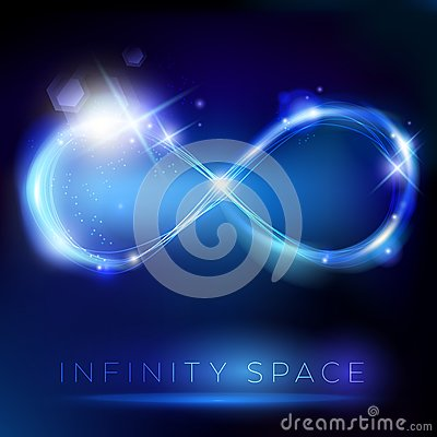 Free Blue Light Infinity Symbol With Lights Effects Royalty Free Stock Photos - 39259198