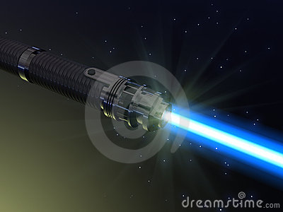Blue light saber