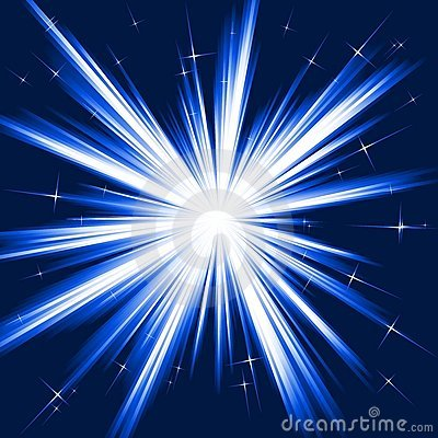 Free Blue Light, Star Burst, Stylised Fireworks Stock Image - 10266791