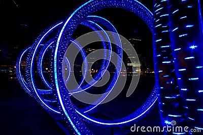 Blue light-tube