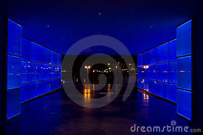 Blue light tunnel