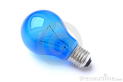 Blue lightbulb