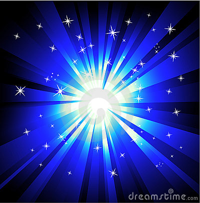 Free Blue Lights Explosions Background Royalty Free Stock Photo - 11282525