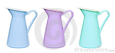 Blue, lilac and green capacites