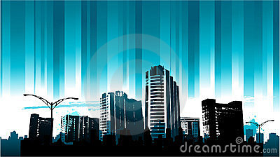 Blue line Cityscape background