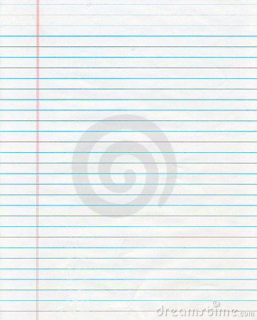 Free Blue Lined Paper Stock Image - 10249061