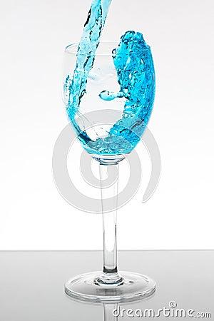 Blue liquid splash