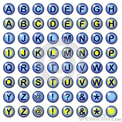 Blue lLetter Web Buttons