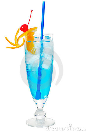 Free Blue Long Drink Cocktail Stock Photo - 20857430