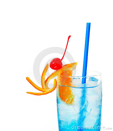 Free Blue Long Drink Cocktail Stock Photo - 21590730