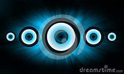Blue Loudspeaker background