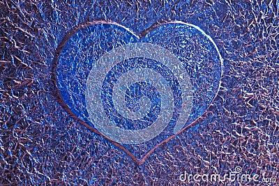 Blue love heart background