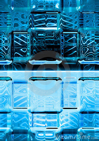 blue luminescence glass