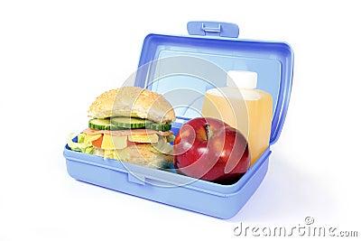 Blue lunch box