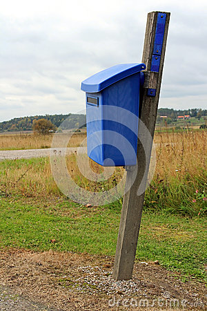 Blue Mailbox by Autumn Road