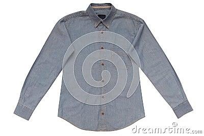 Blue male shirt
