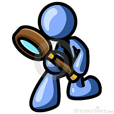 Free Blue Man With Magnifying Glass Stock Photo - 3307620